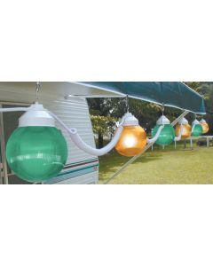 Polymer Products LLC Green And Yellow 6  Globes - Globe Lights