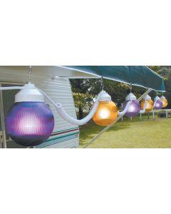Polymer Products LLC Yellow And Purple 6  Globes - Globe Lights