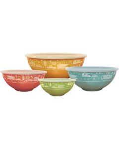 Nesting Bowls W/ Lids 4 Sets - Nesting Bowls