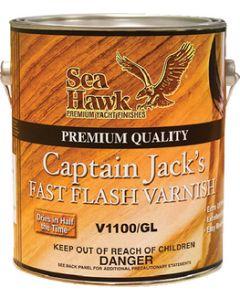 Seahawk V1100QT Captain Jack'S Fast Flash Varnish, Qt., 6/case
