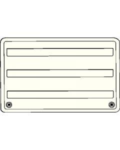 Dometic RV Vent Asmside 24 Black - Refrigerator Vents