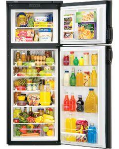 Dometic RV Refr 9Cf R 2-Way/Blk - New Generation Double Door Built-In Refrigerator