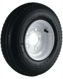 Loadstar Kenda K371 Bias Tire & Wheel Assembly, 480/400-8 LRC, White, 5 hole