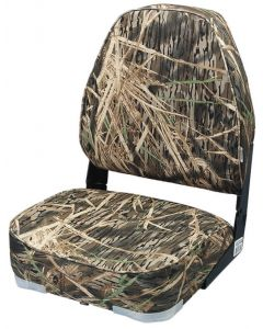 Wise 8WD617PLS Camo High-Back Fold-Down Boat Seat