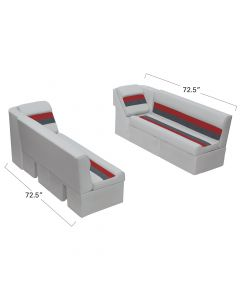 """Wise WS13579 Deluxe Pontoon - 55"""" Bench & Lean Back Set"""