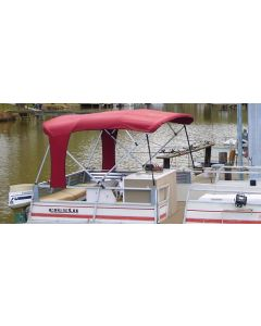 "Carver® Buggy Style 8-Foot Square Tube Pontoon Bimini Top - Fits 96""-102"" Width x 48"" Height x 8' Length"