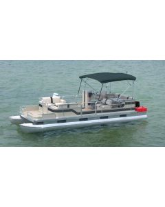 "Carver® Running Light Cut-Out 10-Foot Square Tube Pontoon Bimini Top - Fits 96""-102"" Width x 48"" Height x 10' Length"