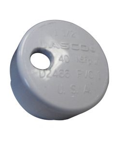 """Lee's Tackle Lee'S Pvc Drain Cap F/ Heavyrod Holders 1/4"""" Npt For Barb"""