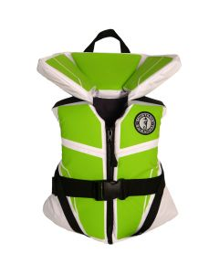 Mustang Lil Legends 100 Youth Vest - 50-90lbs - Green Apple/White