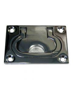 "Whitecap Flush Pull Ring - CP/Brass - 3"" x 2"""