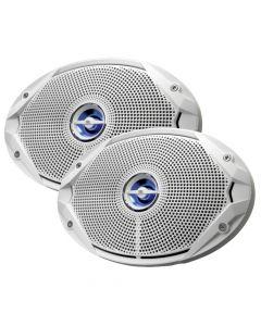 JBL MS9520 300W, 6 x 9 Coaxial Speakers - (Pair) White