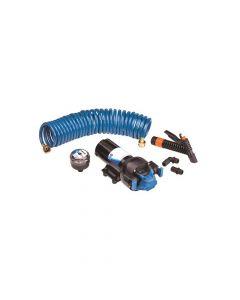 Jabsco HotShot Automatic Washdown Pump w/Hosecoil - 5.0GPM - 70PSI - 24VDC