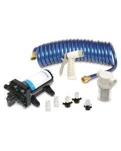 Shurflo PRO WASHDOWN KIT II Ultimate - 12 VDC - 5.0 GPM - Includes Pump, Fittings, Nozzle, Strainer, 25' Hose