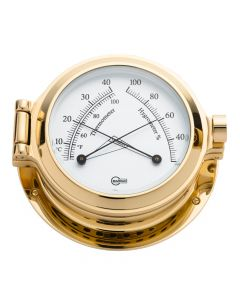 Barigo Poseidon Series Porthole Ship's Comfortmeter - Brass Housing - 3.3 Dial
