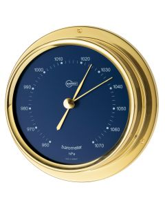 Barigo Regatta Series Ship's Barometer - Brass Housing - Blue 4 Dial