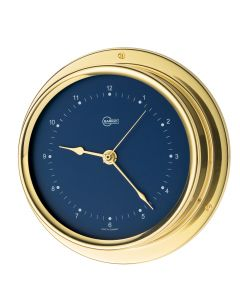 Barigo Regatta Series Quartz Ship's Clock - Brass Housing - Blue 4 Dial