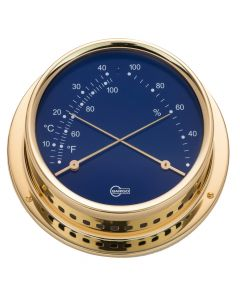 Barigo Regatta Series Ship's Comfortmeter - Brass Housing - Blue 4 Dial
