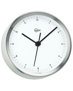 Barigo Steel Series Quartz Ship's Clock - Stainless Steel Housing - 4 Dial