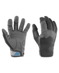 Mustang Traction Full Finger Glove - Gray/Blue - Medium