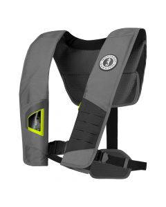 Mustang Survival Mustang DLX 38 Deluxe Manual Inflatable PFD - Gray/Fluorescent Yellow
