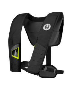 Mustang Survival Mustang DLX 38 Deluxe Manual Inflatable PFD - Black/Fluorescent Yellow-Green