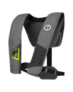 Mustang Survival Mustang DLX 38 Deluxe Automatic Inflatable PFD - Gray/Fluorescent Yellow