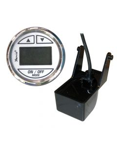 Faria Chesapeake SS White 2 Depth Sounder w/Transom Mount Transducer