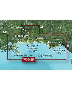 Garmin BlueChart g2 HD w/High Resolution Satellite Imagery - Alabama/Mississippi Gulf Coast
