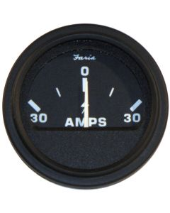 "Faria Heavy-Duty Black 2"" Ammeter (30-0-30)"