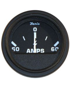 "Faria Heavy-Duty Black 2"" Ammeter (60-0-60)"