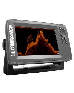 """Lowrance HOOK²-7x 7"""" GPS SplitShot Fishfinder w/Track Plotter Transom Mount SplitShot Transducer"""
