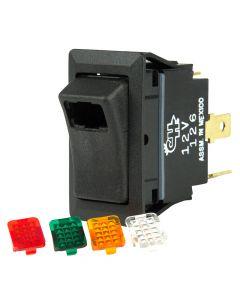 BEP SPST Rocker Switch - 1-LED w/4-Colored Covers - 12V/24V - ON/OFF