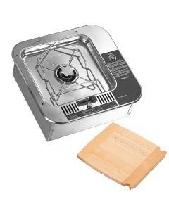 Dometic ORIGO 2000 Single Burner - Non-Pressurized Built-In Alcohol Stove w/Cutting Board