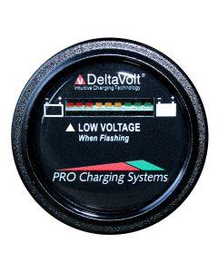 Dual Pro Battery Fuel Gauge - DeltaView® Link Compatible - 12V System (1-12V Battery, 2-6V Batteries)