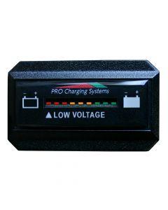 Dual Pro Battery Fuel Gauge - DeltaView® Link Compatible - Rectangle - 12V System (1-12V Battery, 2-6V Batteries)