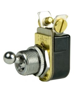"BEP SPST Chrome Plated Toggle Switch - 3/8"" Ball Handle - OFF/ON"