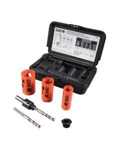 Klein Tools 3-Piece Electrician's Hole Saw Kit w/Arbor