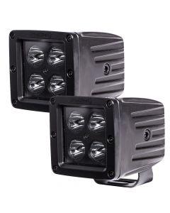 """HEISE Blackout 4 LED Cube Light - 3"""" - 2 Pack"""