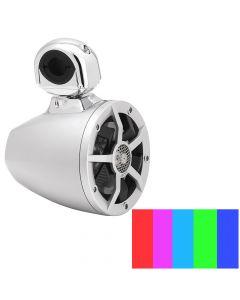 """Clarion 6.5"""" Silver 2-Way Marine Tower Speaker"""