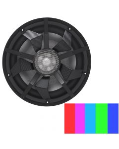 """Clarion 12"""" Marine Subwoofer w/Black and Silver Grilles"""