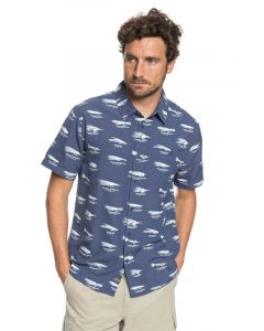Quiksilver Men's Waterman Wake Lures Technical Short Sleeve Shirt