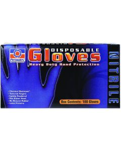 Disposable Nitrile Gloves, 100 Count Box - Permatex