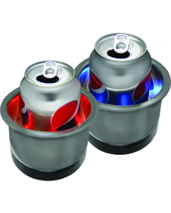 Stainless Steel LED Light Cup Holder