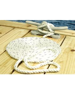 Seachoice Premium 3 Strand Twisted Nylon Dock Line With Tracer Twisted Dock Lines