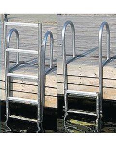 Dock Edge Welded Heavy Duty Aluminum Slide Up Ladder Dock Ladders