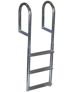 Dock Edge Wide-Step Welded Aluminum Fixed Ladders