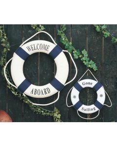 Decorative Blue Life Rings
