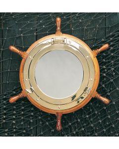 Porthole Mirrors with Ship's Wheel
