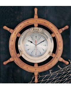 """Porthole Wheel Clock 24""""  - 30"""""""
