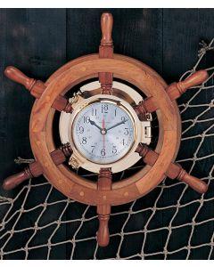 "18""-30"" Porthole Ship's Wheel Clocks"